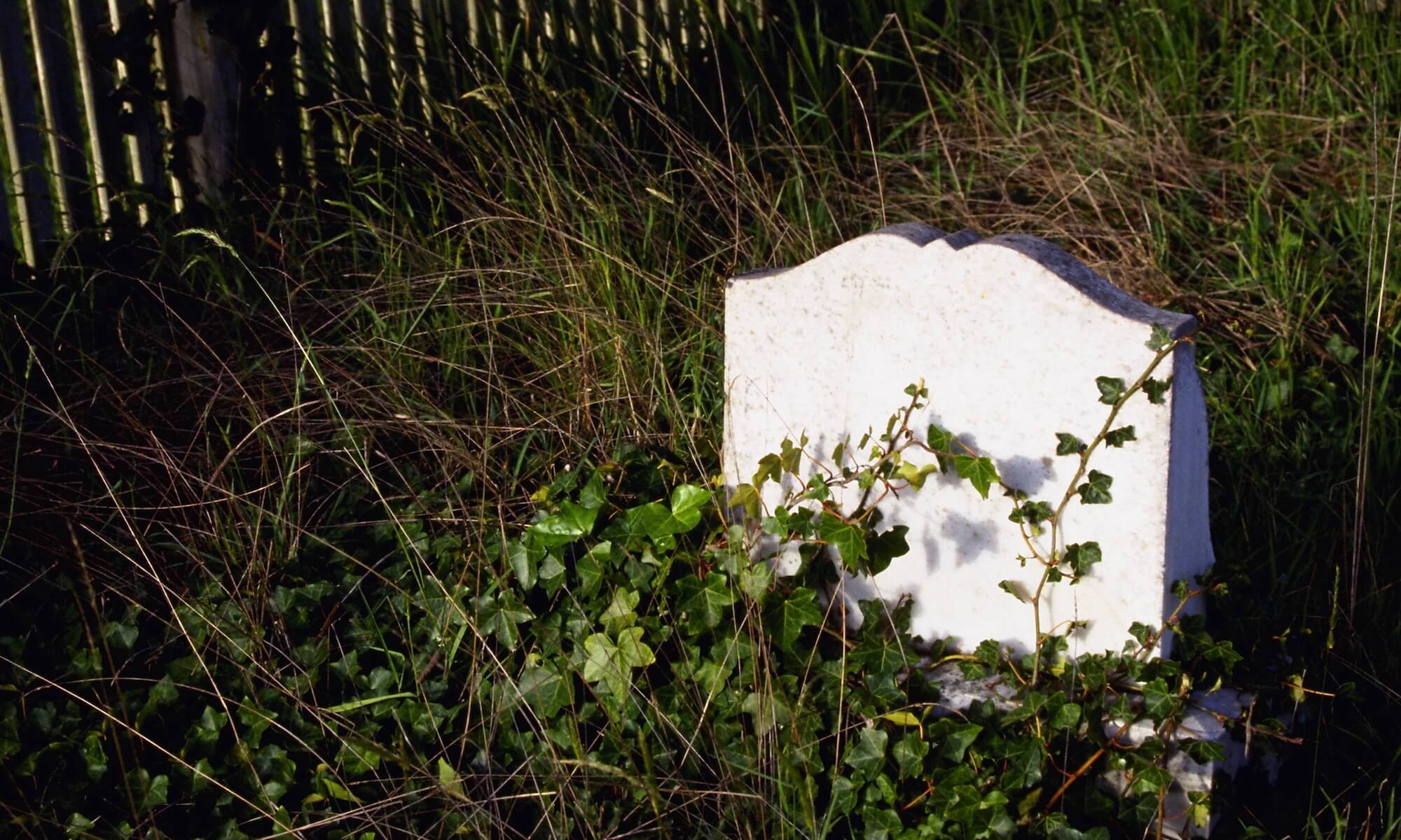 Grave Marker in Cemetery