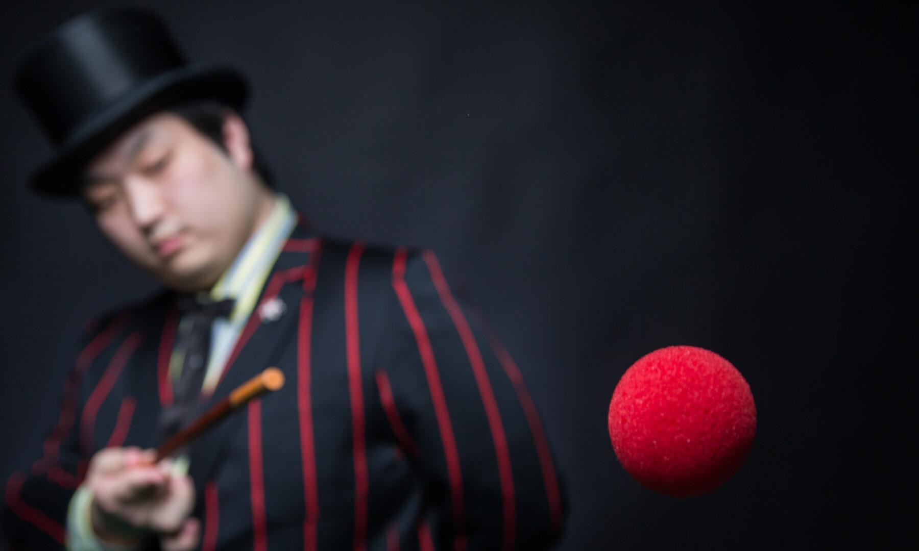 A magician performing a trick