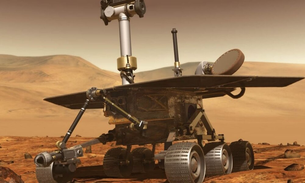 Mars rovers concept drawing