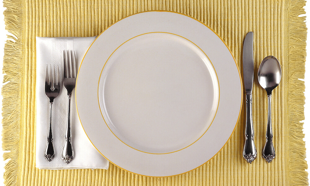 A place setting set for one person