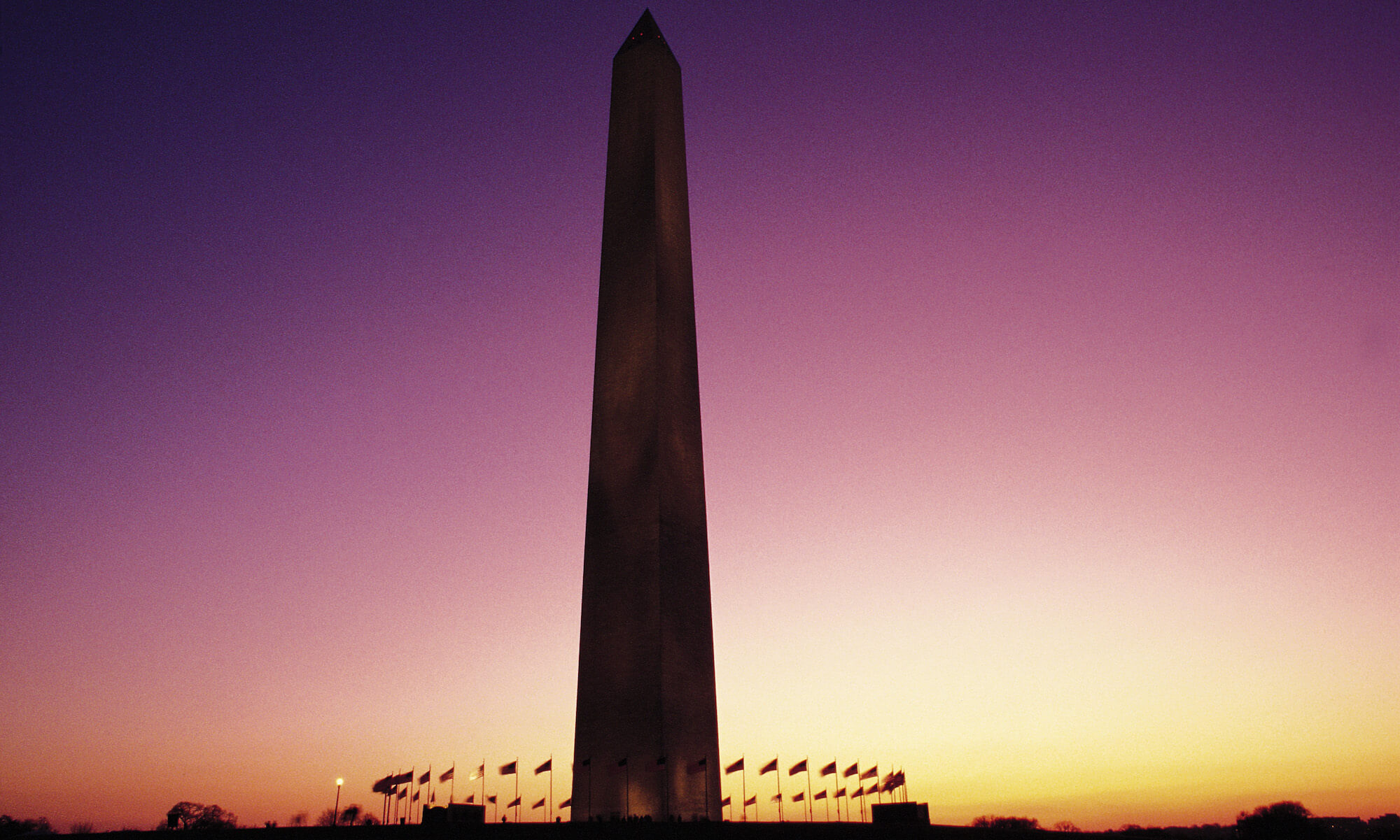 Washington Monument at sunset