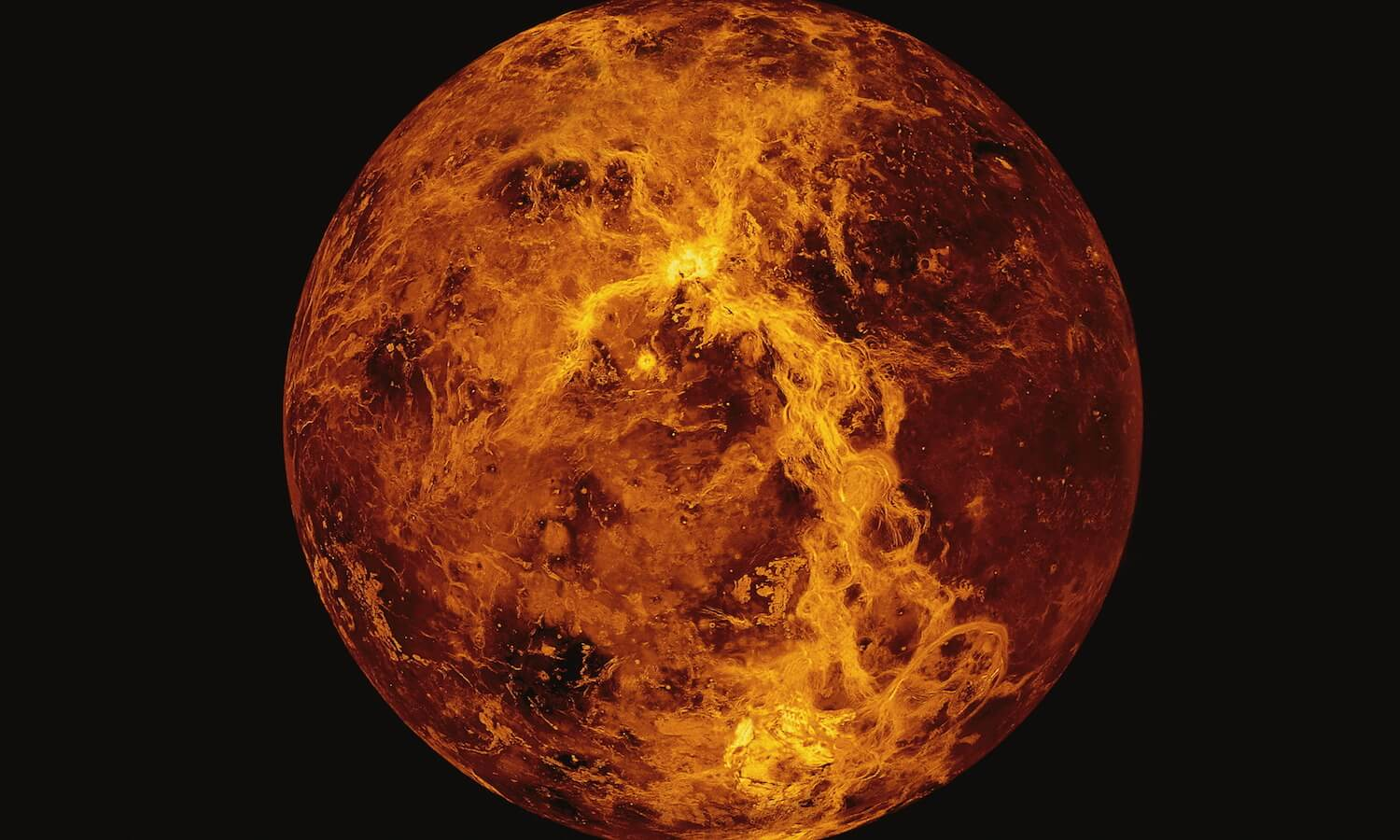 Close-up view of Venus