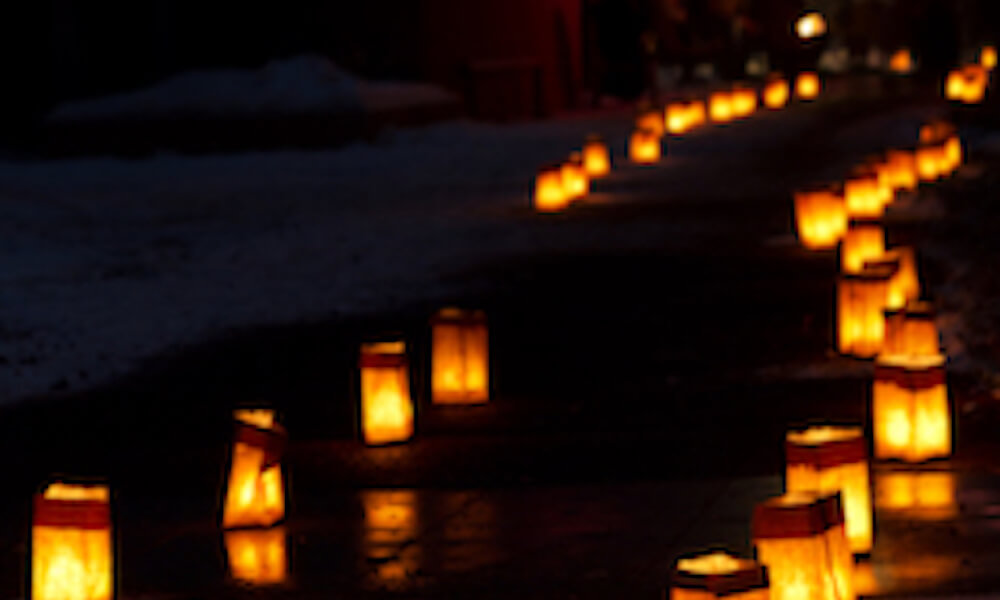 Christmas Eve Luminarias