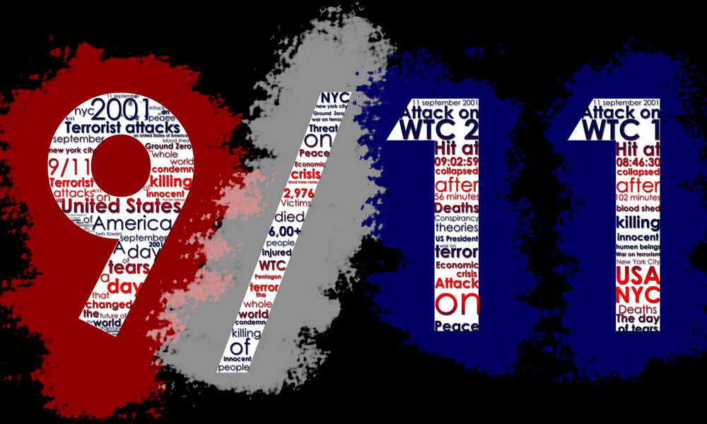 September 11, Typographic Illustration