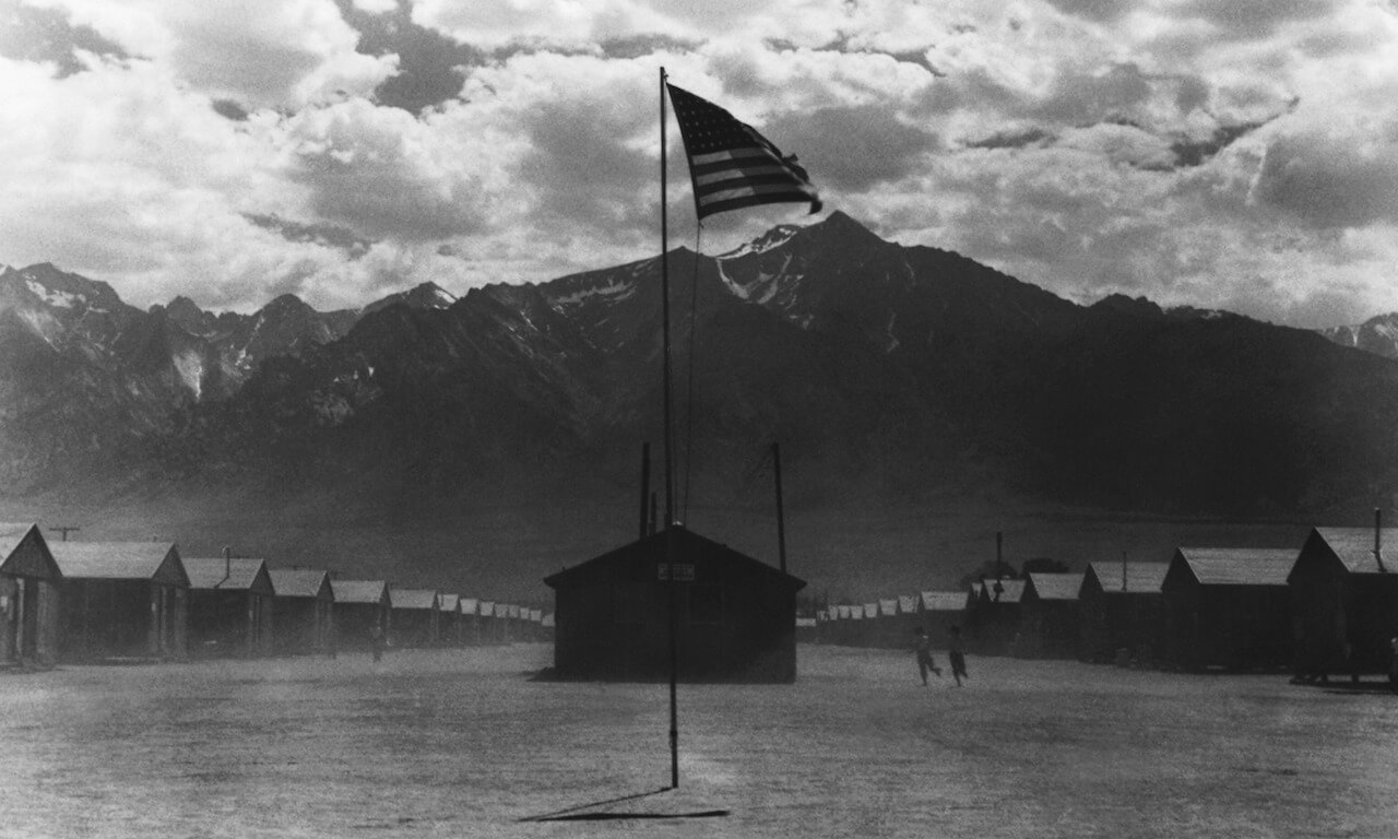 Dust Storm at Manzanar Camp