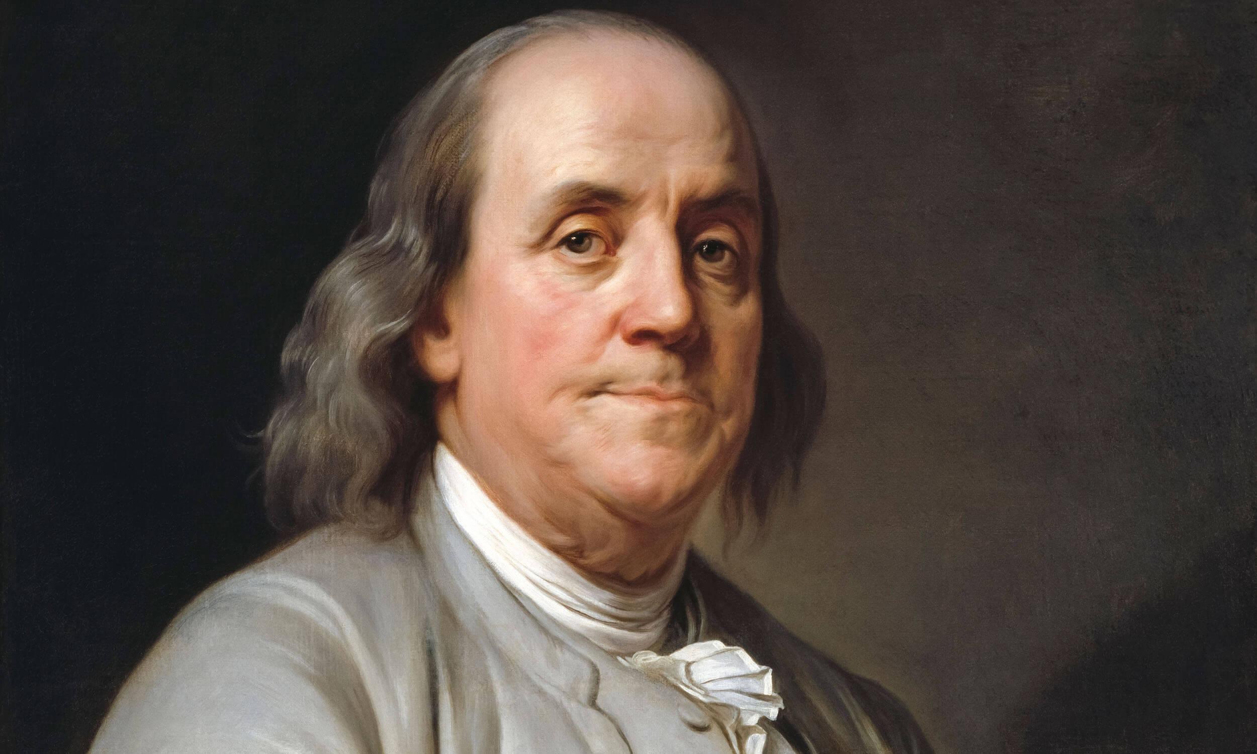 Benjamin Franklin Ben Franklin Portrait painting