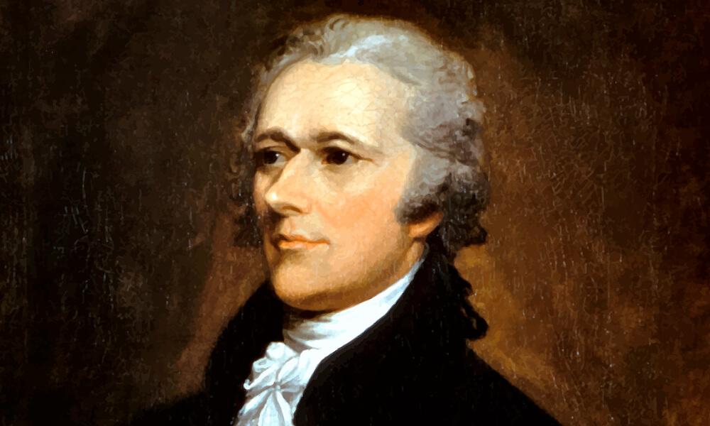 Vintage painting of Alexander Hamilton