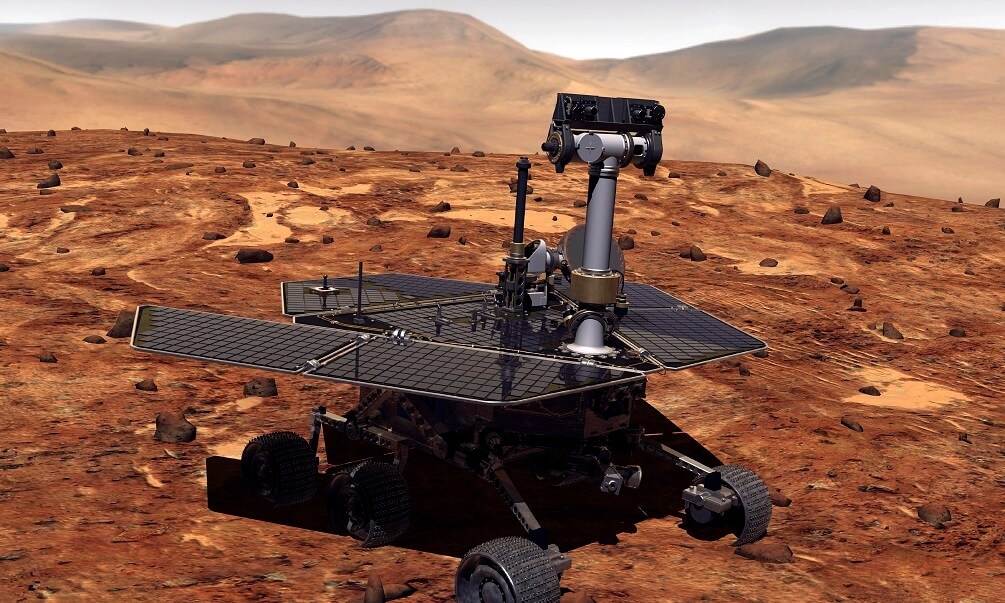 Artist rendition of Mars rover