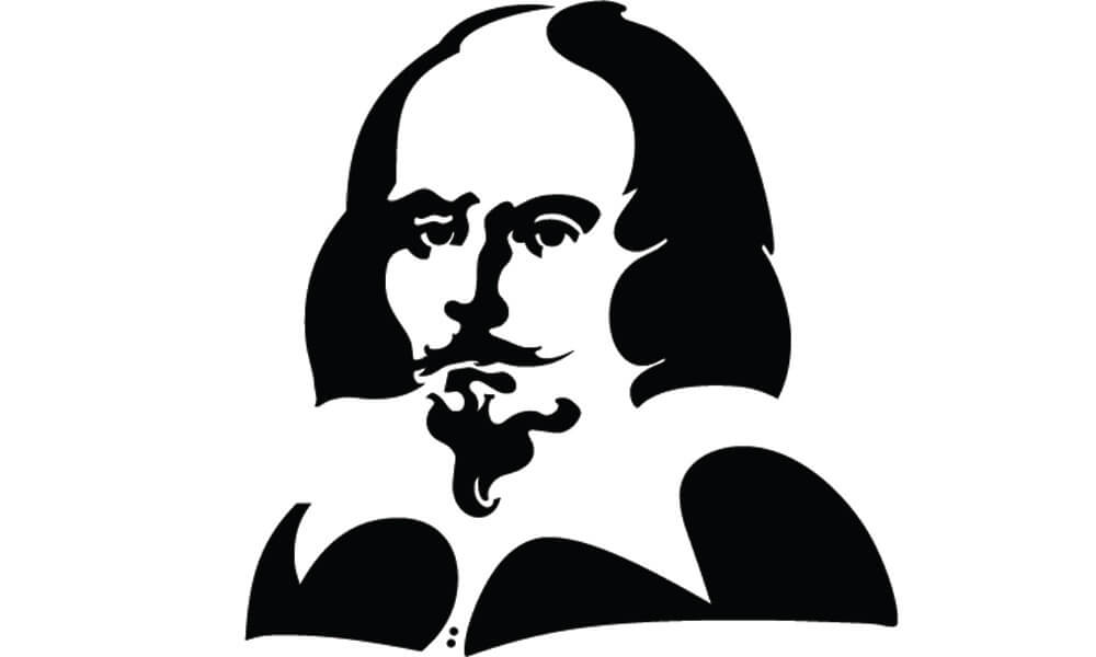 Illustrated Portrait of William Shakespeare