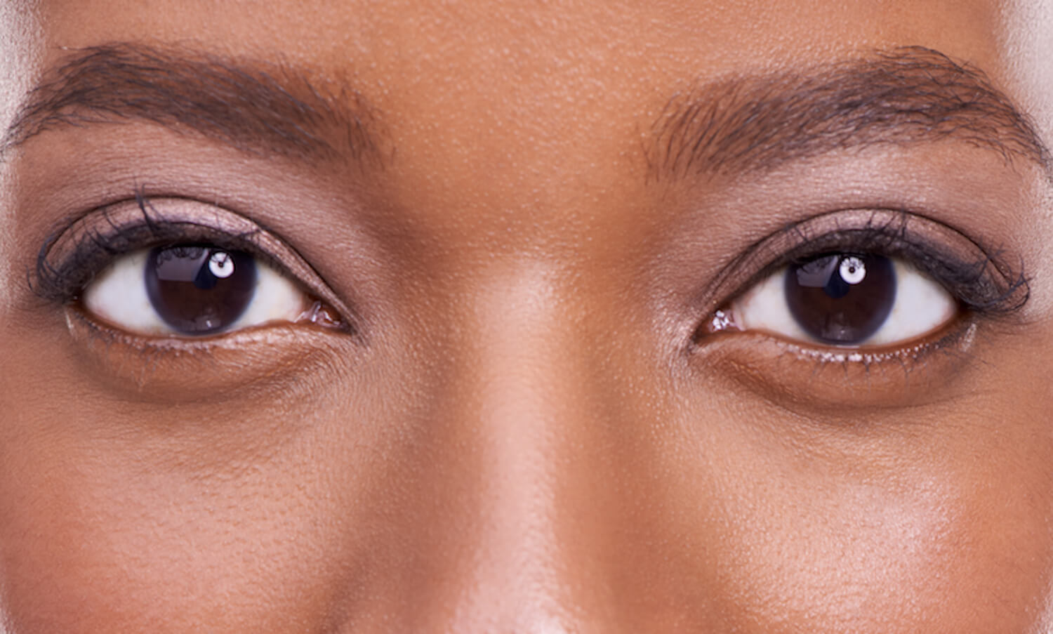 Close up of a determined woman's eyes