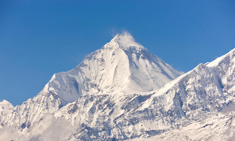 a snowy peak on Mount Everest