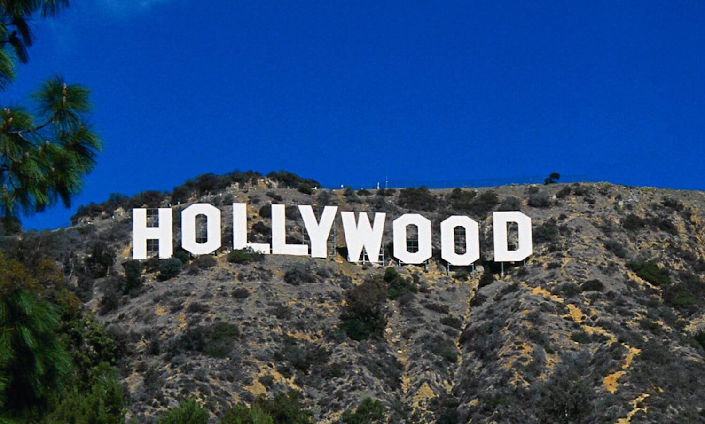 Hollywood letters on California hillside