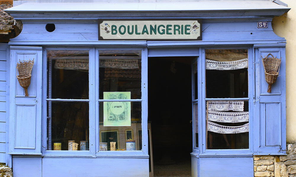 Boulangerie in French town