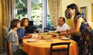 Paris Region, France, dining rooms, standing, sitting, food,