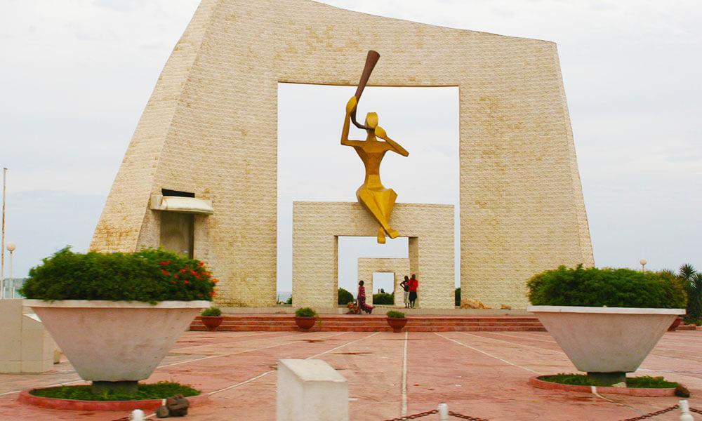 La Porte Du Millenre, monuments and memorials, sculpture, Dakar, Senegal