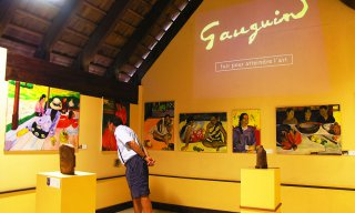 French Polynesia, galleries and museums, Paul Gauguin, paintings, art, sculptures, painters, artists, Adults, Men, People