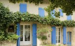 French house with window shutters, Provence, France