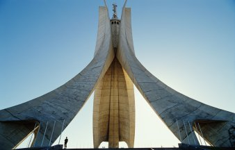 Algeria, Algiers, Martyrs Monument, low angle view