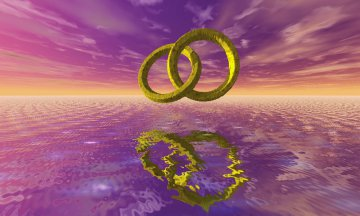 Computer Art Image of Pair of Rings