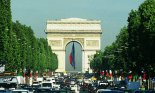 France, Europe, Paris, Champs Elysees, Arc de Triomphe, cars, streets, roads, avenues, boulevards, traffic, architecture, cities