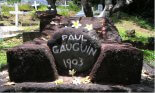 French Polynesia, tombs and sepulchral monuments, graves, cemeteries, Paul Gauguin, artists, painters, stones, flowers