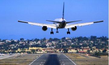 Airplane Landing on Runway