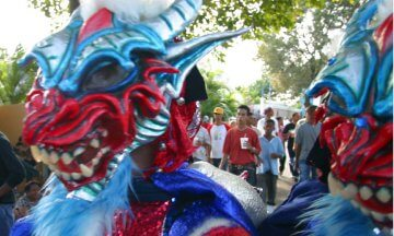 Dominican Republic, 02/23/03, carnaval, masks, costumes, celebrations, parades, festivals, carnivals, Hispanic, People