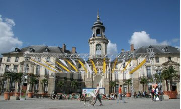 La Place De La Mairie, the town square, in Rennes, France
