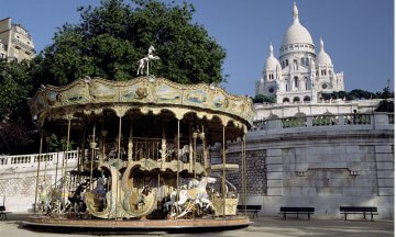 Carousel in Front of Sacre Coeur