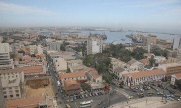 cities, aerial views, Dakar, Senegal, Africa