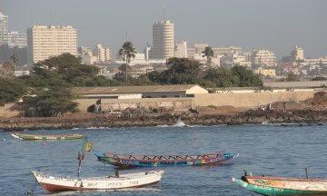 cityscapes, beaches, coastlines, fishing boats, Soumbedioune, Dakar, Senegal