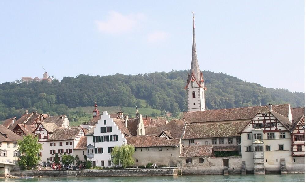 Switzerland, Stein am Rhein, Stadtbild mir Rhein