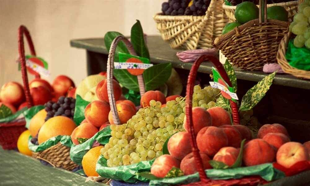 France, Europe, baskets, fruit, produce, markets, food
