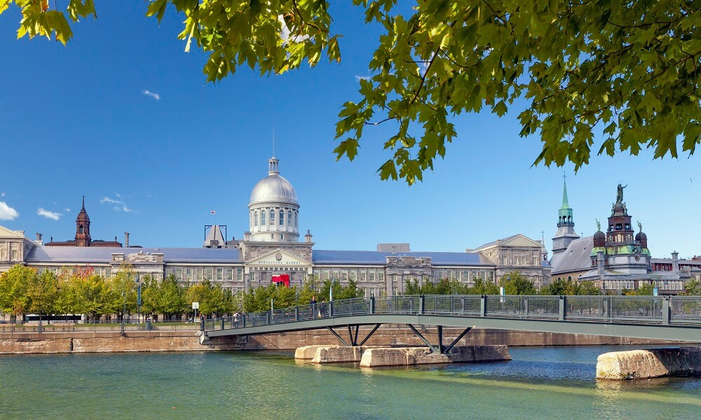 Montreal, Quebec, Canada --- Bonsecours Market in autumn, It was designated National Historic Site of Canada, Montréal, Québec, Canada