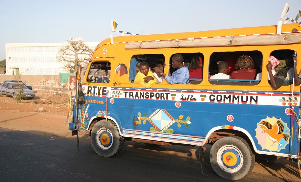 vehicles, buses, transportation, Dakar, Senegal, Africa