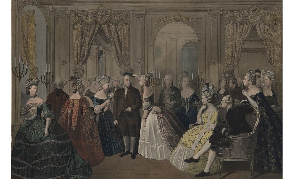 Benjamin Franklin's reception at the court of France, 1778