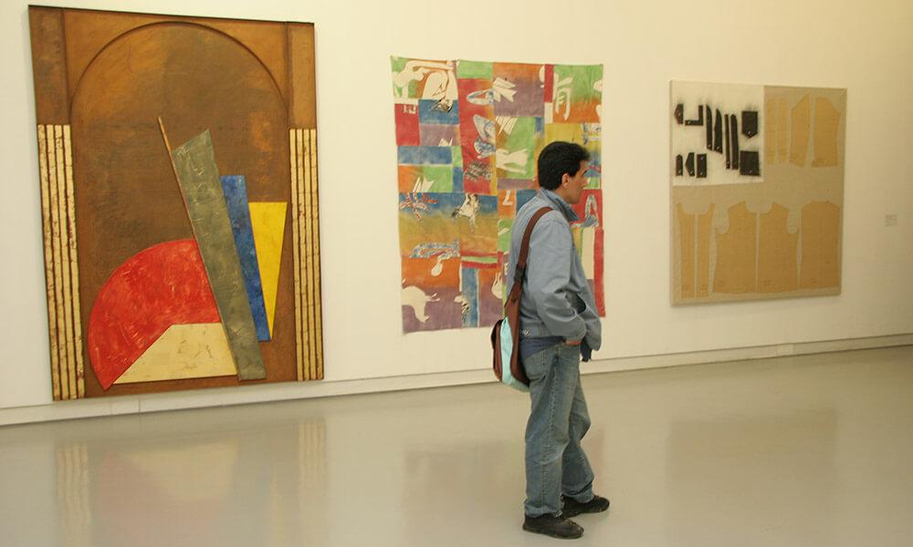 Man standing in museum