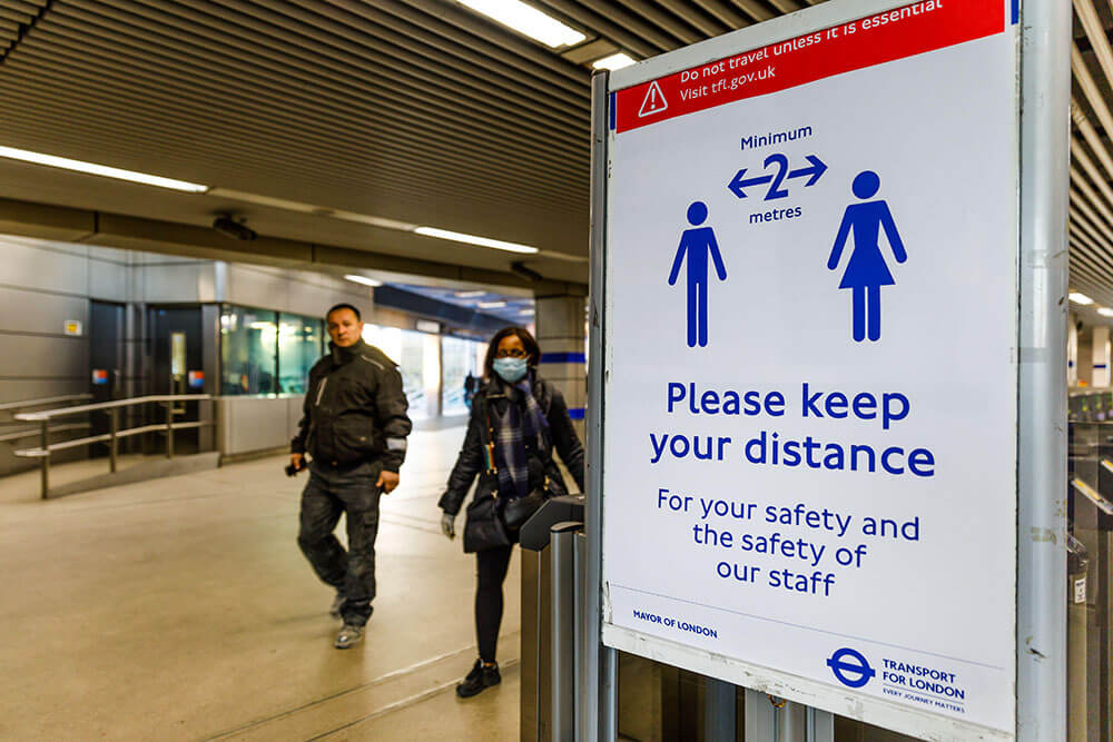 Wembley Park, London, UK. 23rd Mar 2020. People ignoring social distancing recommendations in a London Underground station as the global COVID-19 coronavirus pandemic accelerates.