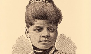 An old-fashioned drawing of Ida B. Wells.