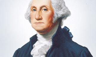A painting of George Washington.