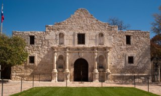 The famous Alamo Mission in San Antonio, Texas