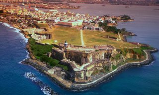 Aerial shot of San Felipe fort