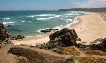 Tunquen beach in Chile