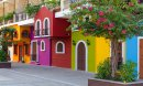Colorful apartment building in Puerto Vallarta, Mexico
