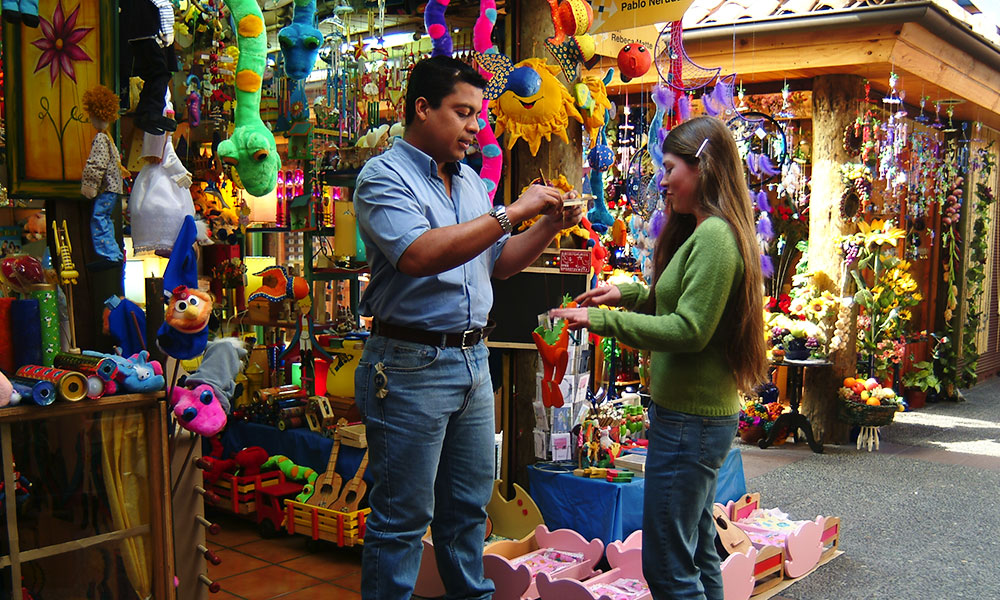 shopping in market, Santiago, Chile