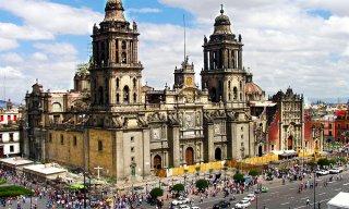 Metropolitan Cathedral, Plaza de la Constitucion, Mexico City