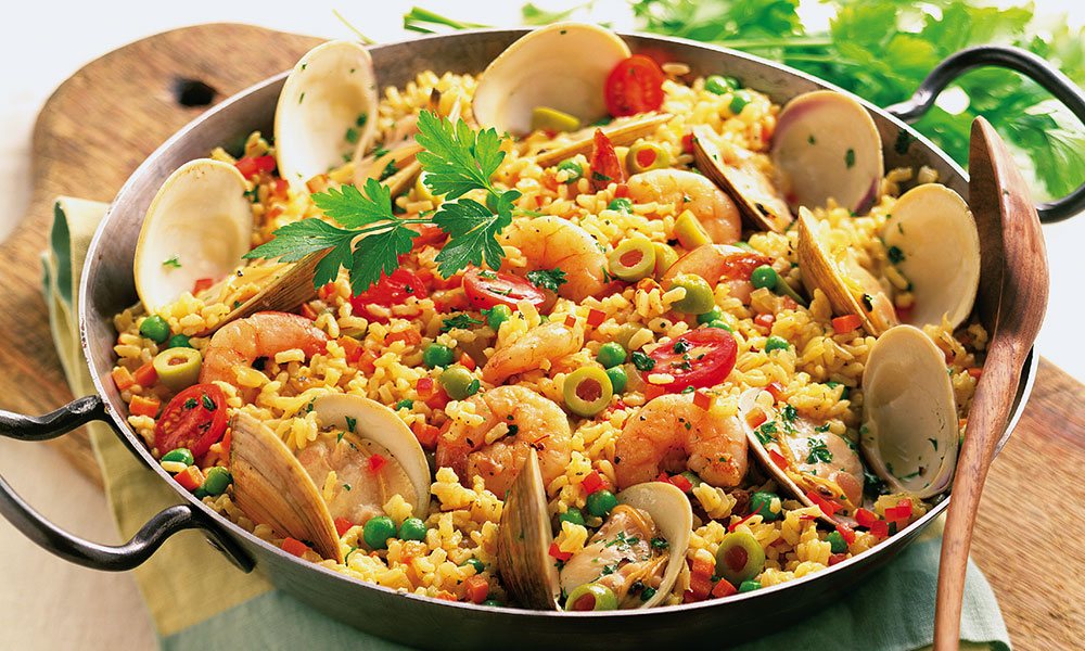 food, paella, Spain