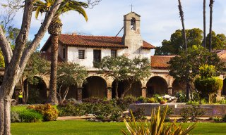 The lovely mission at San Juan Capistrano, California