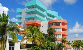 Art deco architecture in Miami Beach, FL