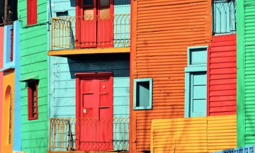 Colorful Argentina houses